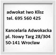 kontakt z adwokatem Iwo Klisz